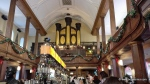 The main bar, looking up towards the organ played by Handel