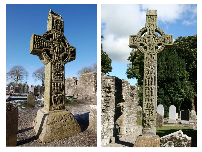 2 Monasterboice Crosses