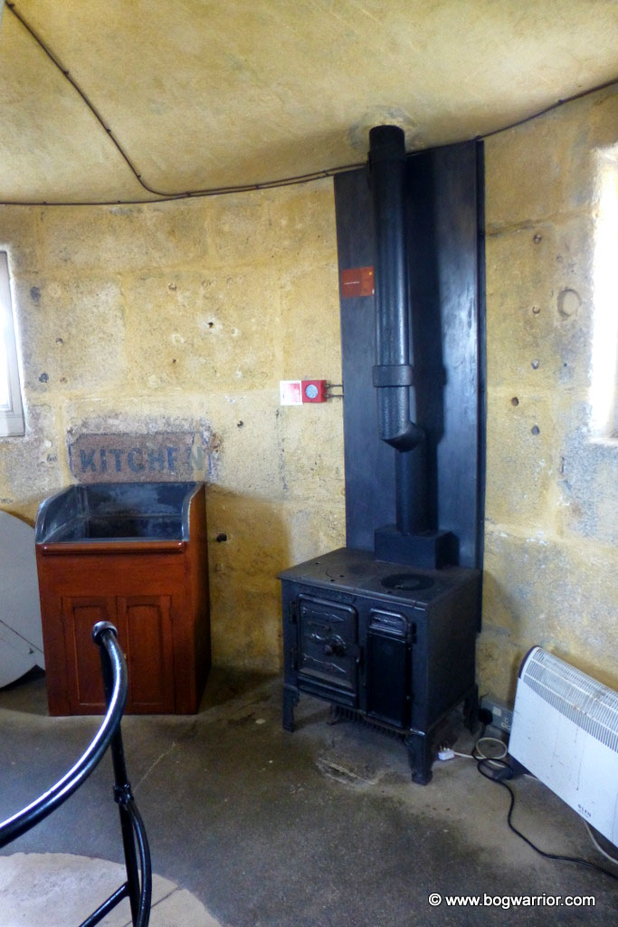 Fitted kitchens weren't de rigueur on lighthouses, it would appear