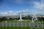Naval monument and Plymouth wheel