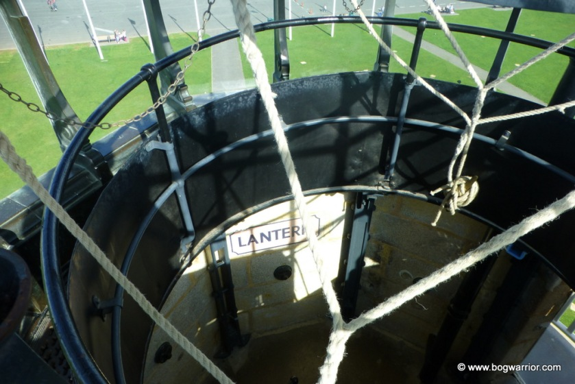 Looking down to the Lantern floor from the top of the lighthouse