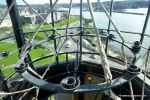 The lantern room at the top of the lighthouse