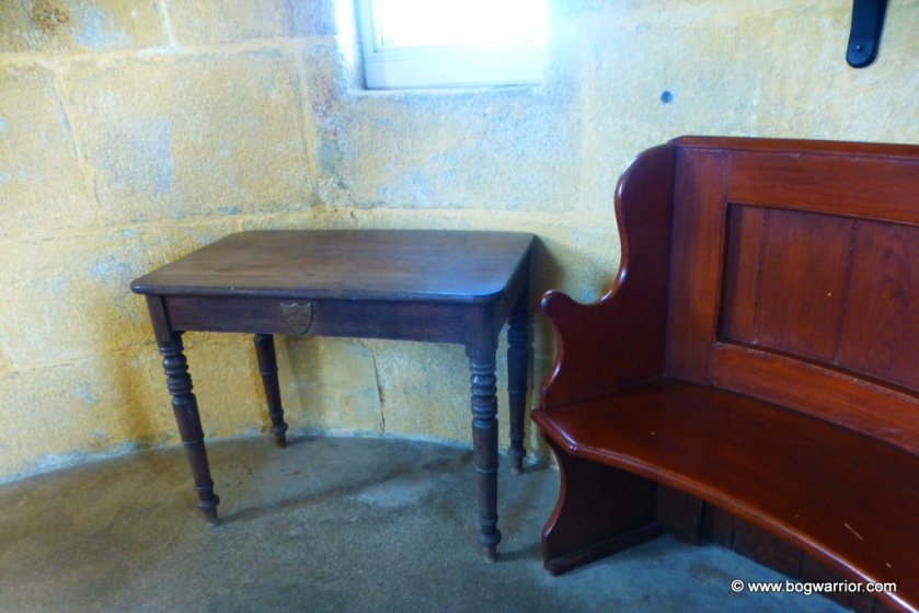 Original 18th century table which was on the lighthouse