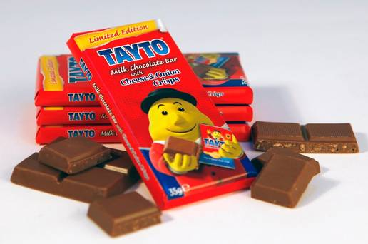 Adventures in bad food #1: The Tayto cheese and onion chocolate bar