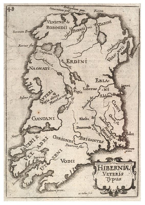 Ptolemy's Hibernia, showing
