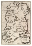 """Ptolemy's Hibernia, showing """"Dunum"""" in the midlands"""