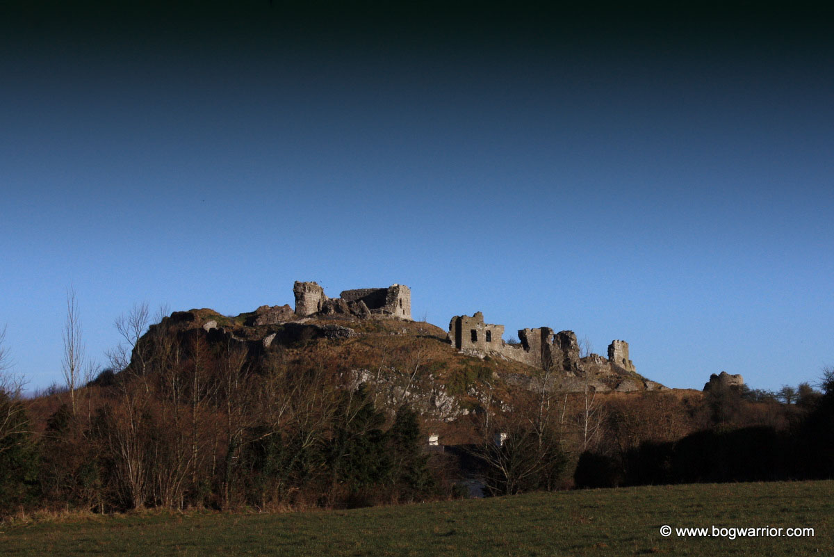 The Rock of Dunamase, as seen from the road