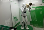 Harry the trumpet playing robot