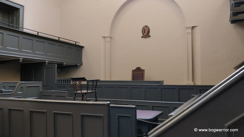 19th century courtroom in Kilmainham Courthouse