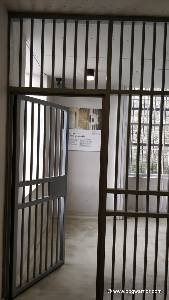 Gates leading into holding cell
