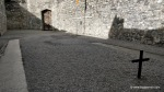 Stonebreaker's yard in Kilmainham Gaol with both crosses