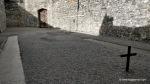 Stonebreaker's yard in Kilmainham Gaol with both crosses