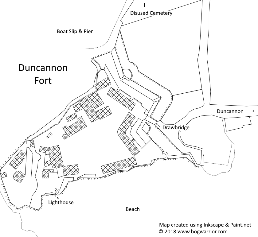 Map of Duncannon Fort