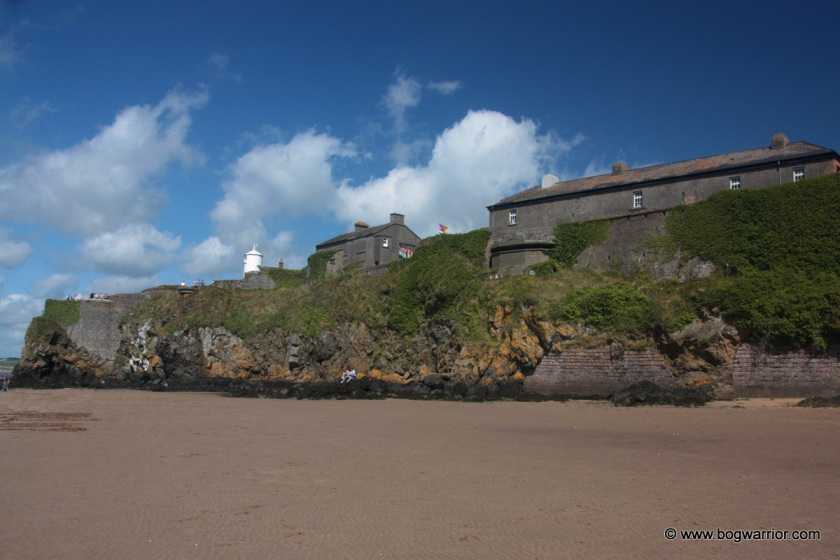 Duncannon Fort & Lighthouse, as viewed from the beach below