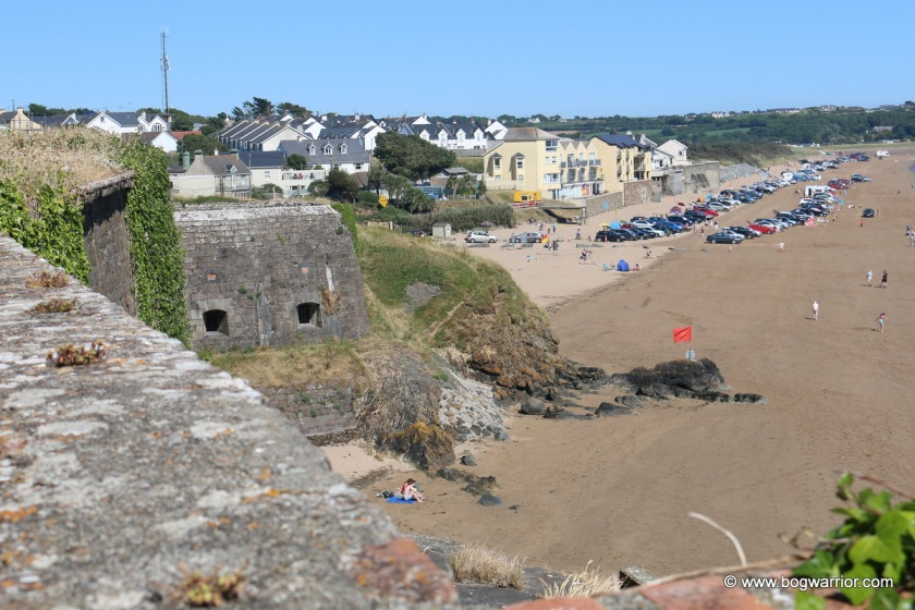 Duncannon fort, looking towards the beach