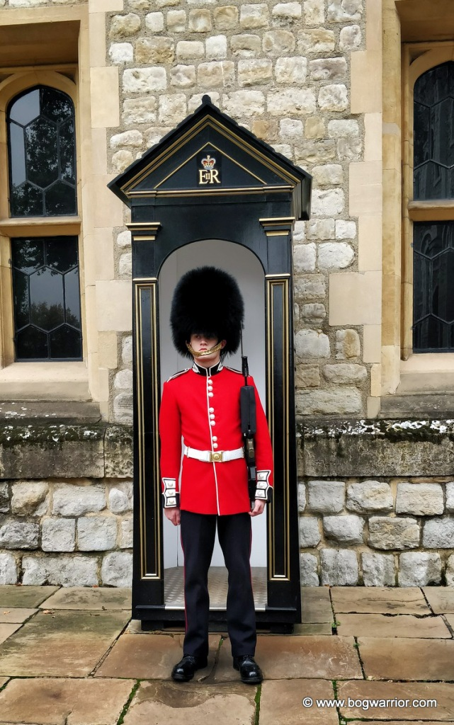 One of the legendary silent Queen's Guards.