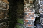 The internal staircase in the tower. This is thought to date from repairs to the tower in the 17th century